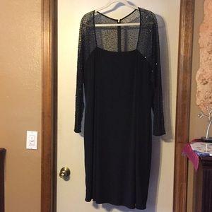JS Boutique black beaded cocktail dress, 24W